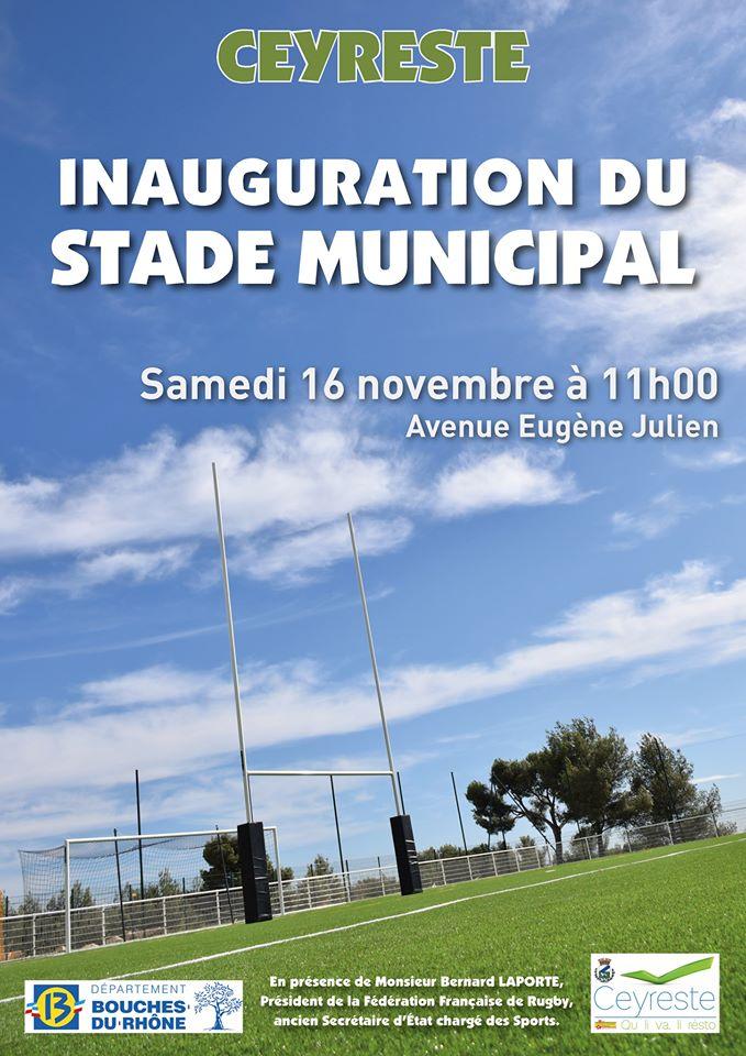 Inauguration du stade de Ceyreste en présence de Bernard Laporte