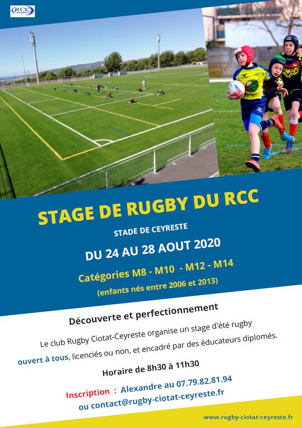 Stage rugby au stade de Ceyreste