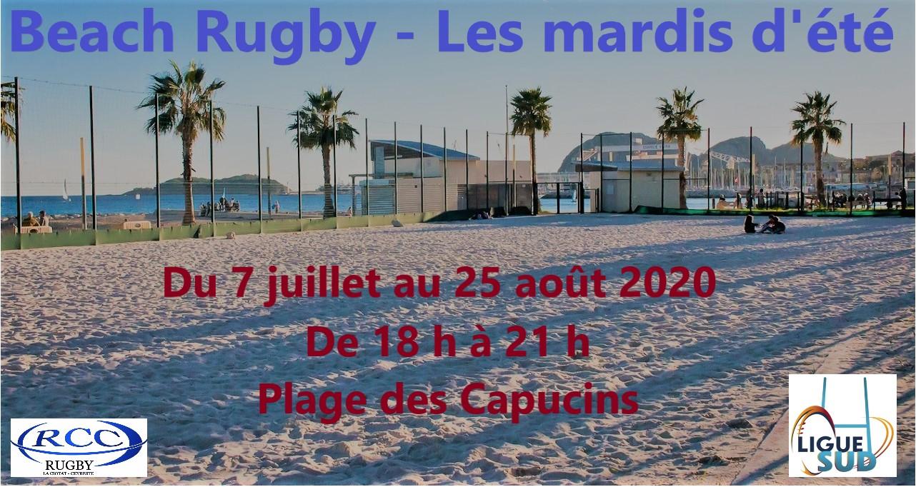 Beach rugby - les mardis d'été @ Plage des Capucins